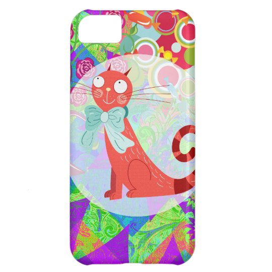 Pretty Kitty Crazy Cat Lady Gifts Vibrant iPhone 5C Case