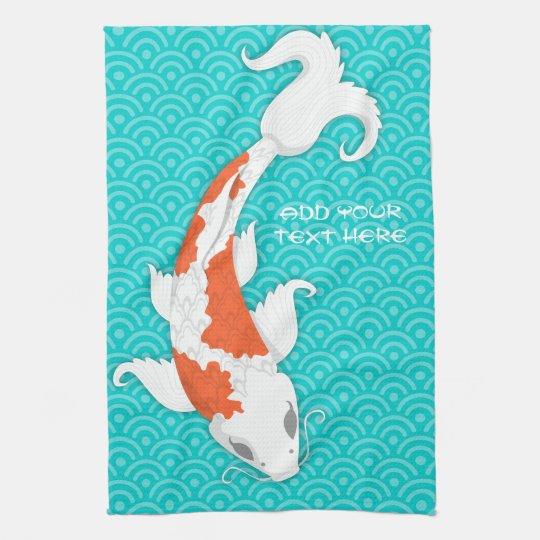 Pretty Koi Tea Towel