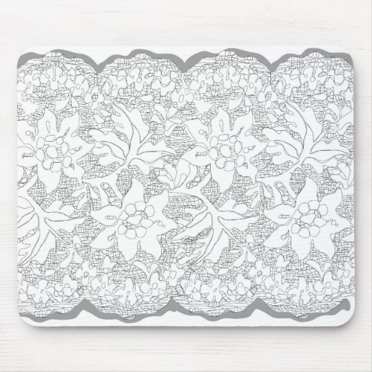Pretty lace drawing mouse mat