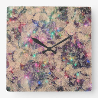 Pretty Lace Roses Clocks