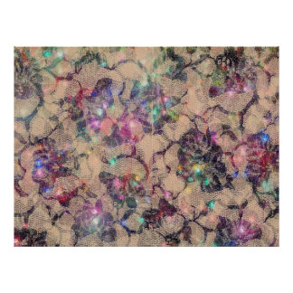 Pretty Lace Roses Posters
