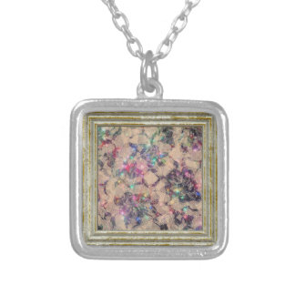 Pretty Lace Roses Silver Plated Necklace