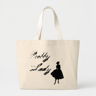 Pretty Lady Large Tote Bag