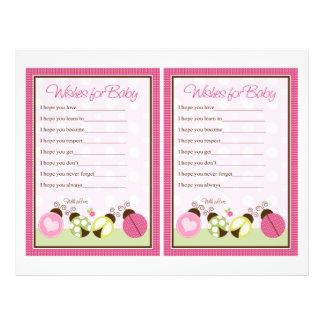 """""""Pretty Ladybug w/ Polka Dots"""" Wishes for Baby 21.5 Cm X 28 Cm Flyer"""