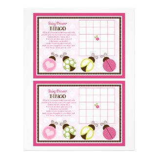 "Pretty Ladybugs ""Baby Shower Bingo"" sheet 21.5 Cm X 28 Cm Flyer"