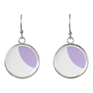 Pretty lavender and White Earrings