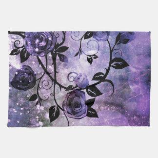 Pretty Lavender Purple Fantasy Rose Vine Floral Towel