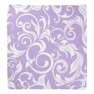 Pretty Lavender Purple Floral Wallpaper Pattern Bandana
