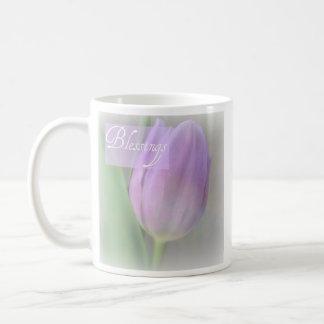 Pretty Lavender Tulip Blessings Mug