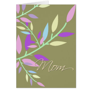 Pretty Leaves Mother's Day Greeting Card