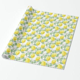 Pretty Lemon Pattern Gift Wrap / Craft Paper
