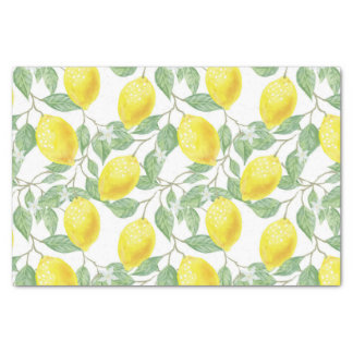 Pretty Lemon Pattern Tissue / Craft Paper