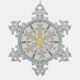 Pretty Light Classy Chic Abstract Pewter Snowflake Decoration