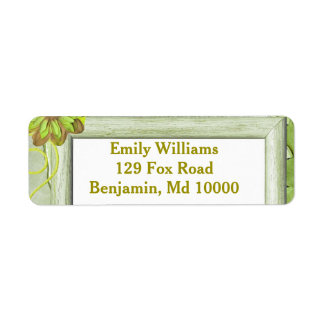 Pretty Light Green Return Address Label