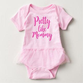 Pretty like Mommy with tutu Baby Bodysuit