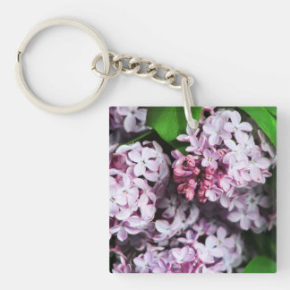 Pretty Lilac Bouquet Key Ring