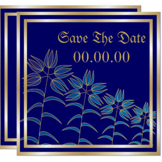 Pretty Lilies Save The Date Announcements