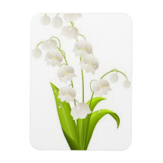Pretty Lily of the Valley Rectangular Magnets