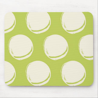 Pretty Lime Green Abstract Circles Pattern Mouse Pad