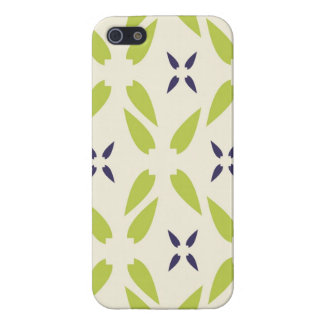 Pretty Lime Green and Purple Floral Wallpaper Cover For iPhone 5/5S