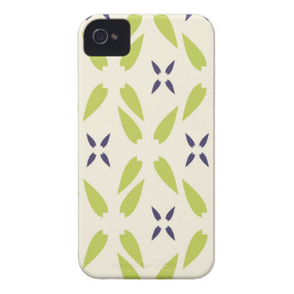 Pretty Lime Green and Purple Floral Wallpaper iPhone 4 Covers