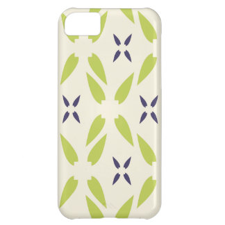 Pretty Lime Green and Purple Floral Wallpaper iPhone 5C Case