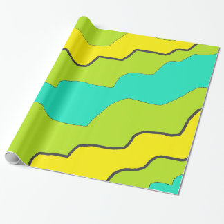 Pretty Lime Green & Yellow Modern Gift Wrap Paper Wrapping Paper