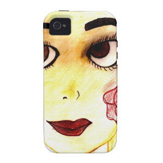Pretty line girl iPhone 4/4S cases
