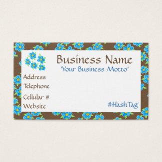 Pretty Little Blue Flowered Business Card