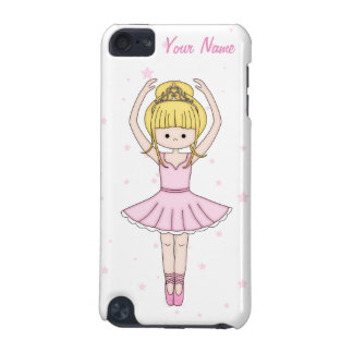 Pretty Little Cartoon Ballerina Girl in Pink iPod Touch 5G Covers