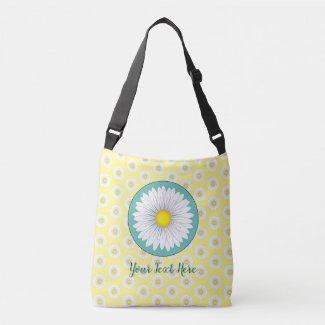 Pretty Little Daisies - Yellow Crossbody Bag