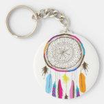 Pretty Little Dream Catcher Basic Round Button Key Ring