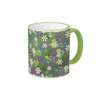 Pretty Little Flowers Ringer Mug