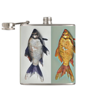 Pretty Little Goldfish Hip Flask