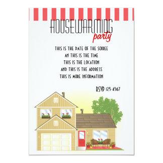 Pretty Little House 13 Cm X 18 Cm Invitation Card