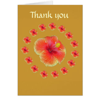 Pretty Little Pink Flowers - Big Flower in Center Greeting Card