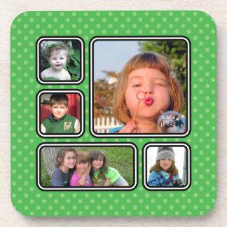 Pretty Little Polka Dot Photo Collage Coaster Set