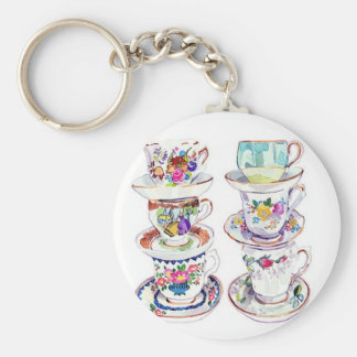 Pretty Little Teacups Key Ring