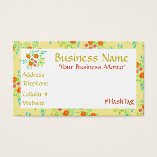 Pretty Little Yellow Flowered Business Card