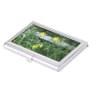 Pretty Little Yellow Flowers Business Card Holder