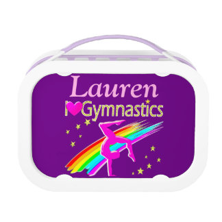 PRETTY LOVE GYMNASTICS PERSONALIZED LUNCH BOX