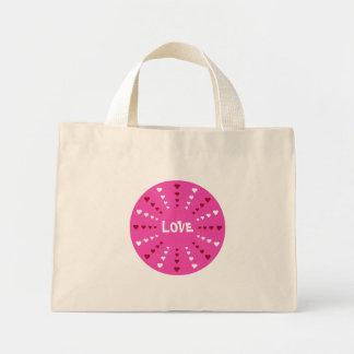 Pretty Love & Hearts Pink White & Red Custom Bag