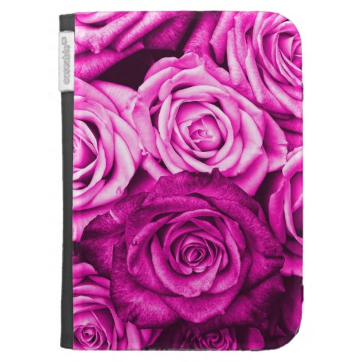 Pretty Magenta Pink Roses Flower Bouquet Kindle Cover