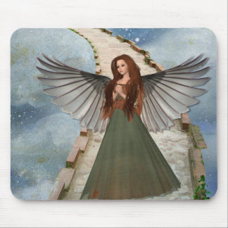 Pretty Magical Angel on Staircase to Heaven Mouse Mat