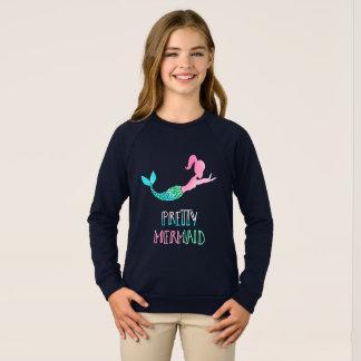 Pretty Mermaid Swim Lovers Long Sleeve T-Shirt