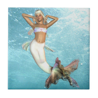 Pretty Mermaid  Tile