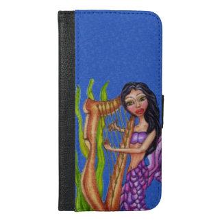 Pretty Mermaid with musical harp Dark hair