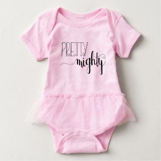 Pretty Mighty Baby Tutu Baby Bodysuit
