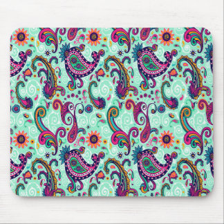 Pretty Mint Paisley Mouse Mat