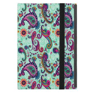 Pretty Mint Pink Paisley Bohemian Pattern iPad Mini Covers